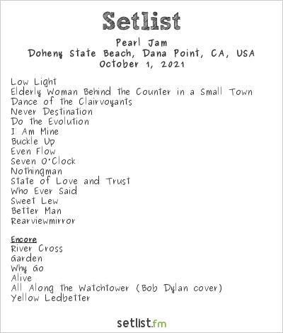 Pearl Jam Setlist Ohana Encore 2021 2021