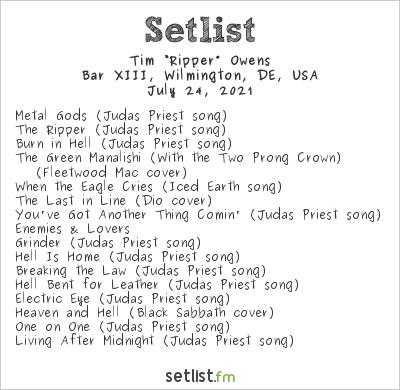 "Tim ""Ripper"" Owens at Bar XIII, Wilmington, DE, USA Setlist"