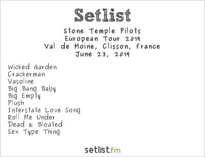 Stone Temple Pilots Setlist Hellfest 2019 2019