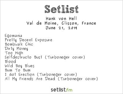 Hank von Hell Setlist Hellfest 2019 2019