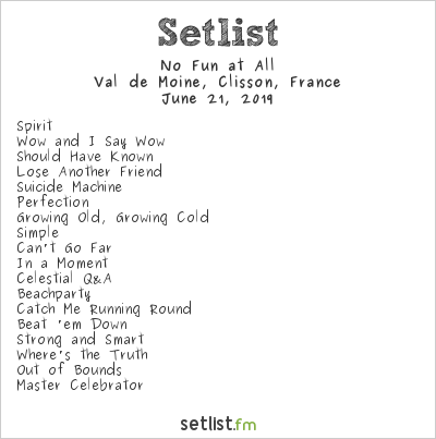 No Fun at All Setlist Hellfest 2019 2019