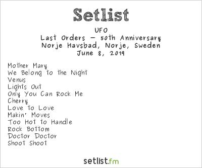 UFO Setlist Sweden Rock Festival 2019 2019, Last Orders - 50th Anniversary