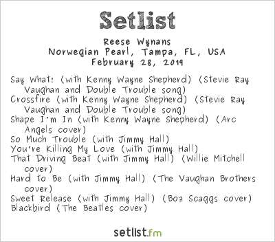 Reese Wynans Setlist Keeping the Blues Alive at Sea V 2019 2019