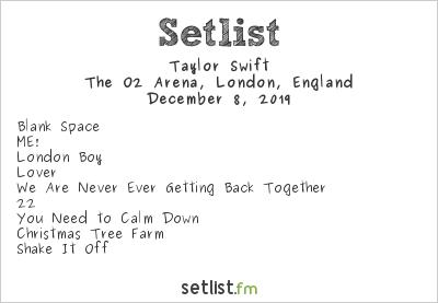Taylor Swift at Capital FM Jingle Bell Ball 2019 Setlist