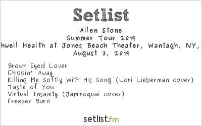 Allen Stone at Northwell Health at Jones Beach Theater, Wantagh, NY, USA Setlist