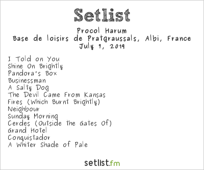 Procol Harum Setlist Festival Pause Guitare 2019 2019