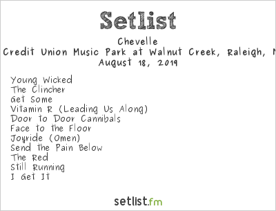 Chevelle Setlist Coastal Credit Union Music Park at Walnut Creek, Raleigh, NC, USA 2019