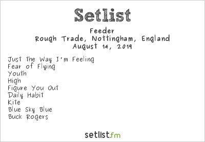 Feeder Setlist Rough Trade, Nottingham, England 2019, Tallulah: Album Party