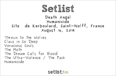 Death Angel Setlist Motocultor Festival 2019 2019, Humanicide