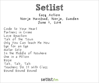 Easy Action Setlist Sweden Rock Festival 2019 2019