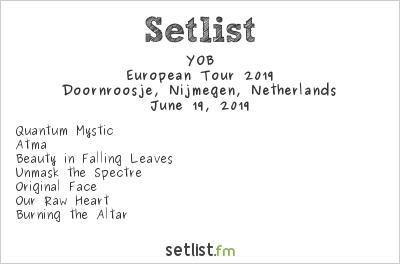 YOB Setlist Doornroosje, Nijmegen, Netherlands, European Tour 2019