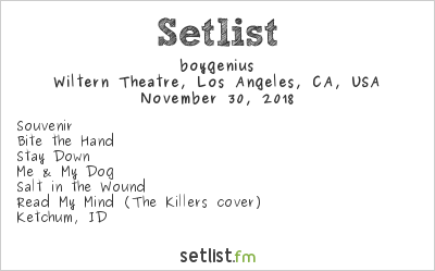 boygenius Setlist Wiltern Theatre, Los Angeles, CA, USA 2018