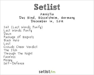 Amnistia at Das Rind, Rüsselsheim, Germany Setlist