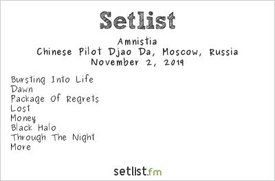 Amnistia at Moscow Industrial Community Festival 2019 Setlist