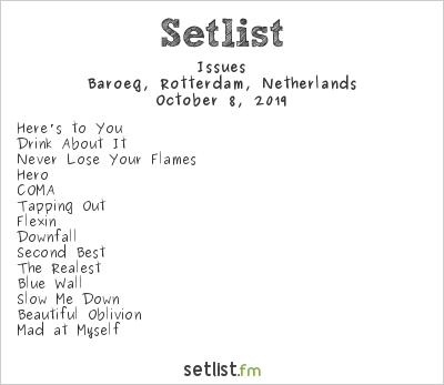 Issues Setlist Baroeg, Rotterdam, Netherlands 2019