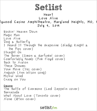 Heart Setlist Hollywood Casino Amphitheatre, Maryland Heights, MO, USA 2019
