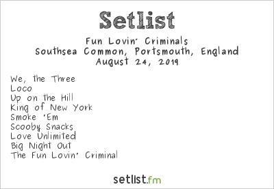 Fun Lovin' Criminals Setlist Victorious Festival 2019 2019