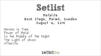 Metalite Setlist Malmöfestivalen 2019 2019
