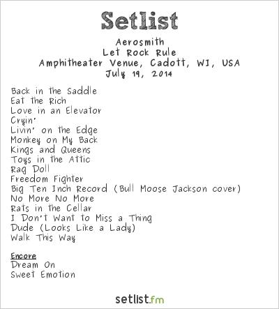 Aerosmith Setlist Rock Fest 2014 2014, Let Rock Rule