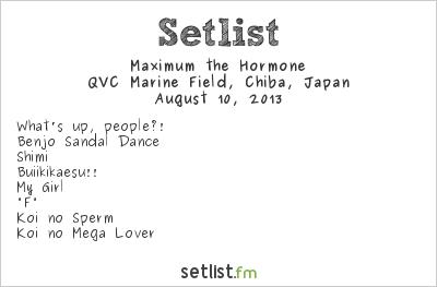 Maximum the Hormone Setlist Summer Sonic Tokyo 2013 2013