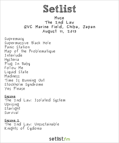 Muse Setlist Summer Sonic Tokyo 2013 2013, The 2nd Law