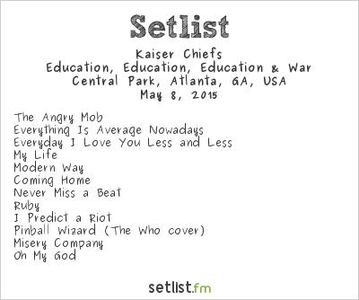 Kaiser Chiefs at Shaky Knees Music Festival 2015 Setlist