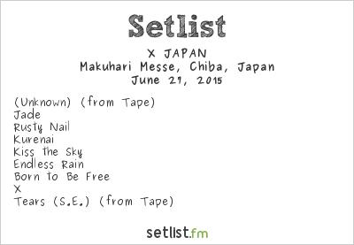 X JAPAN Setlist LUNATIC FEST. 2015