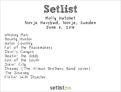 Molly Hatchet Setlist Sweden Rock Festival 2015 2015