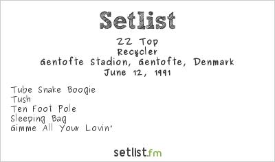 ZZ Top Setlist Gentofte Stadion, Gentofte, Denmark 1991, Recycler World Tour