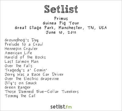 Primus Setlist Bonnaroo 2011 2011, Guinea Pig Tour