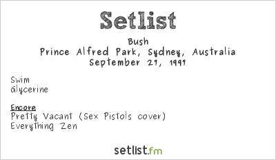 Bush Setlist Grudgefest 1997 1997
