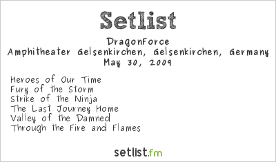 DragonForce Setlist Rock Hard Festival, Gelsenkirchen, Germany 2009