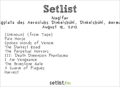 Naglfar Setlist Summer Breeze 2012 2012