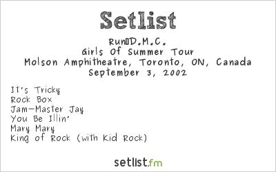 Run‐D.M.C. Setlist Molson Amphitheatre, Toronto, ON, Canada 2002, Girls Of Summer Tour