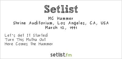 MC Hammer Setlist Soul Train Awards 1991 1991