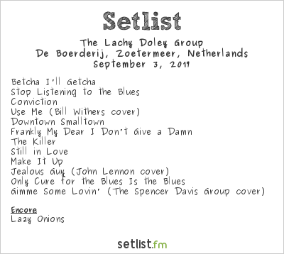The Lachy Doley Group Setlist De Boerderij, Zoetermeer, Netherlands 2017