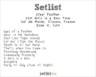 Steel Panther Setlist Hellfest 2017 2017, 2017 Girls in a Row Tour