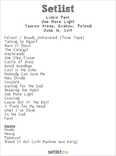 Image Result For Linkin Park Arena Setlist