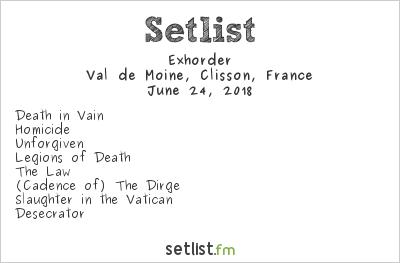 Exhorder Setlist Hellfest 2018 2018