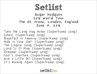 Roger Hodgson Setlist Stone Free 2018 2018, 2018 World Tour