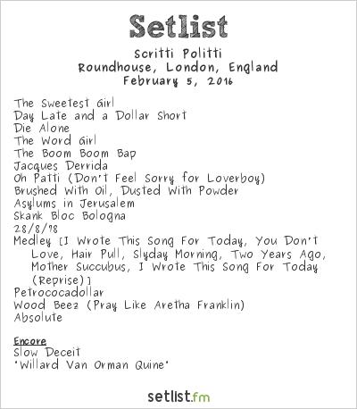 Scritti Politti Setlist Roundhouse, London, England 2016