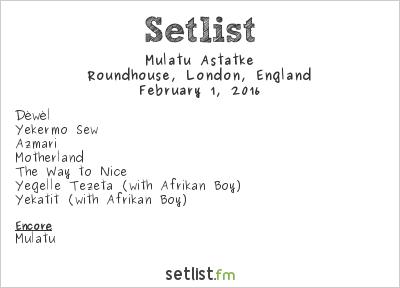 Mulatu Astatke Setlist Roundhouse, London, England 2016