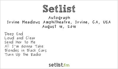 Autograph Setlist Cathouse Live 2015 2015