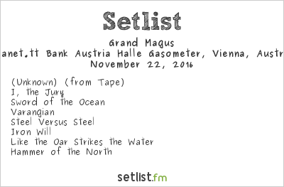 Grand Magus Setlist Gasometer, Vienna, Austria 2016
