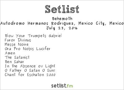 Behemoth Setlist Hell & Heaven Metal Fest 2016 2016