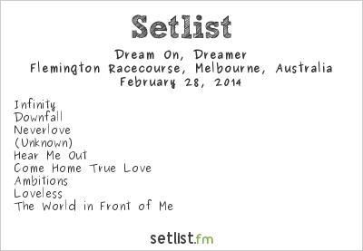 Dream On Dreamer Setlist Soundwave Melbourne 2014 2014