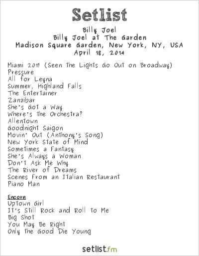 Billy Joel Tour Dates Nyc
