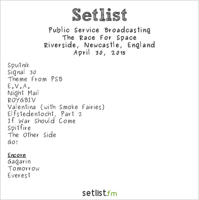 Public Service Broadcasting Setlist Riverside, Newcastle, England 2015