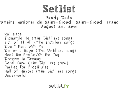 Brody Dalle Setlist Rock en Seine 2014 2014