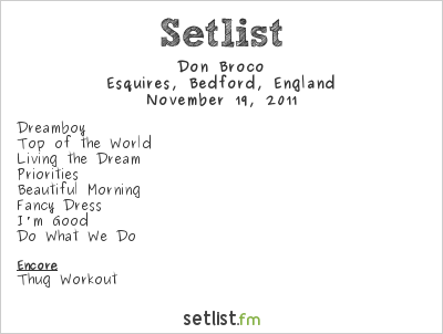 Don Broco Setlist Esquires, Bedford, England 2011